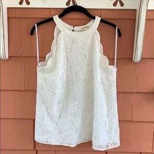 Monteau | Lace tank top blouse - L